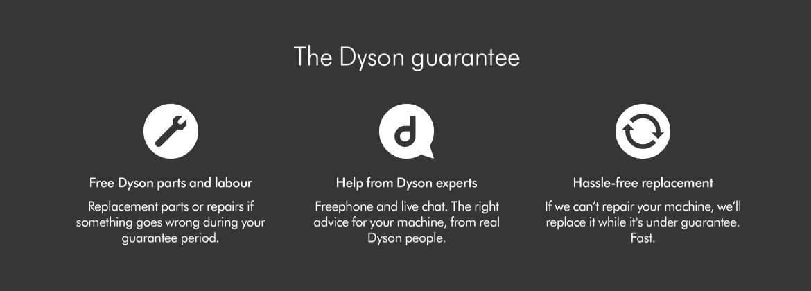 The Dyson guarantee