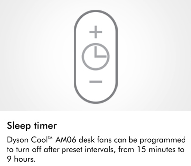 Dyson AM07 Cool Fans Sleep Timer
