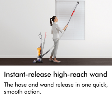 The hose and wand release in one quick small action