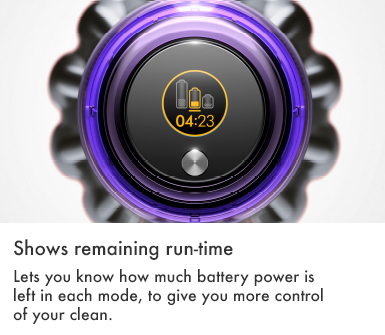 Dyson V11 Torque Drive Shows Remaining