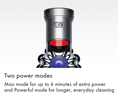 Dyson V7 Trigger Power Modes