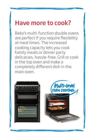 Beko Multi-function Double Oven