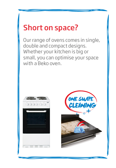 Beko Oven One Swipe Cleaning