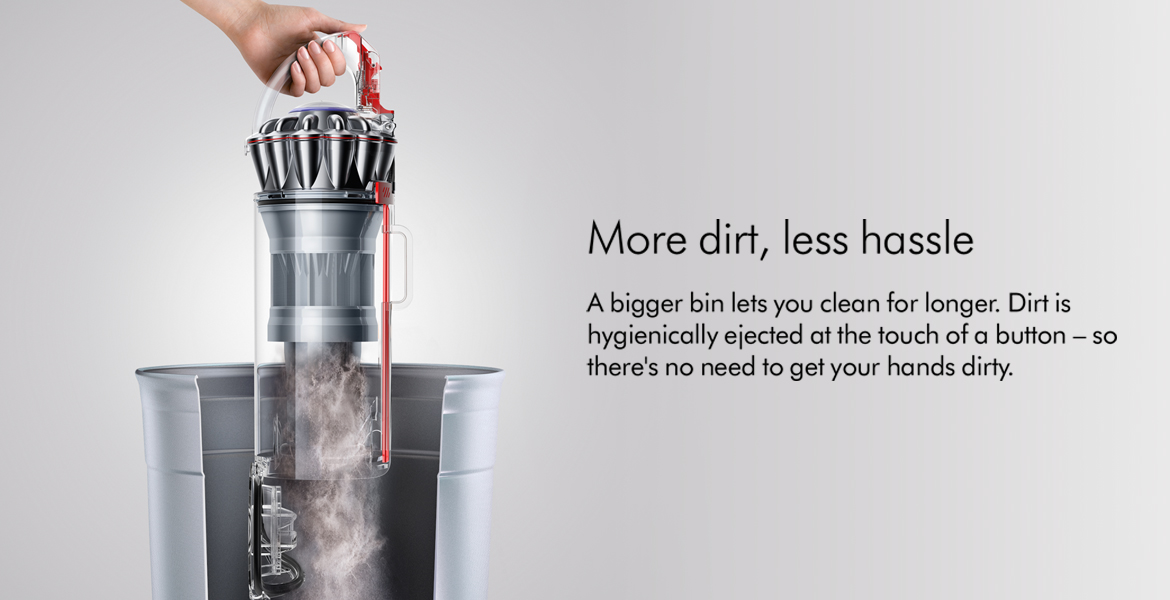 Dyson Ball Animal 2 Dirt Hygienically Ejected