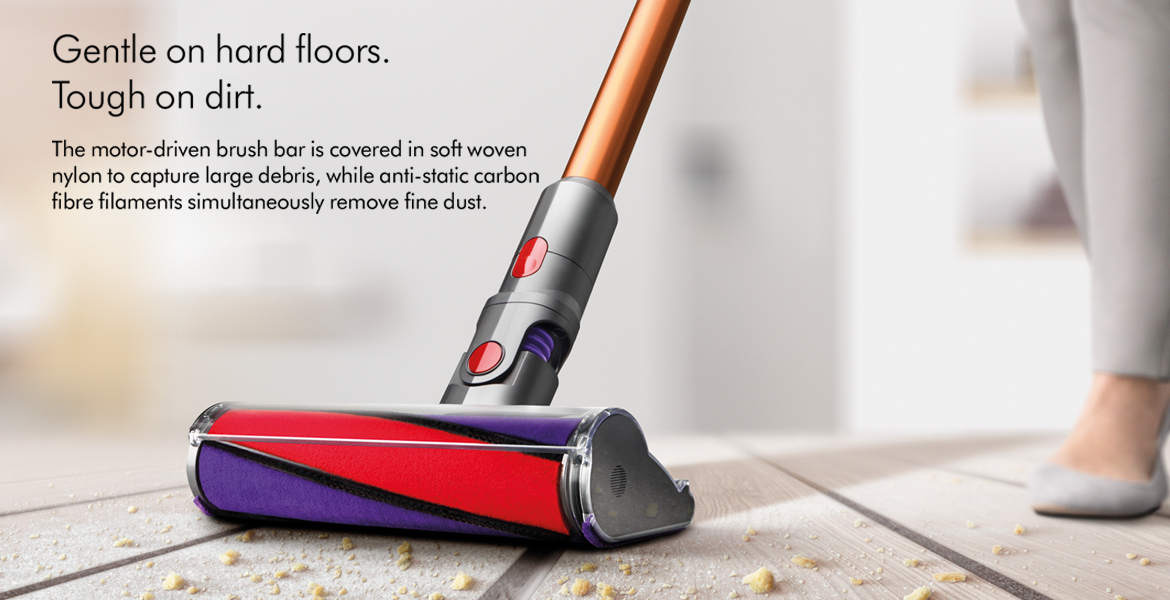 Dyson Cyclone V10 Absolute Gentle on Hard Floors Tough on Dirt