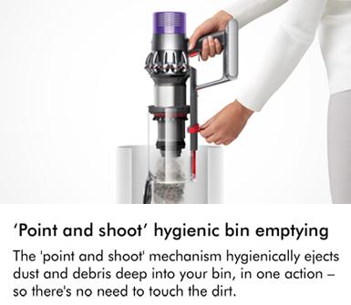 Dyson Cyclone V10 Point & Shoot Hygienic Bin Emptying
