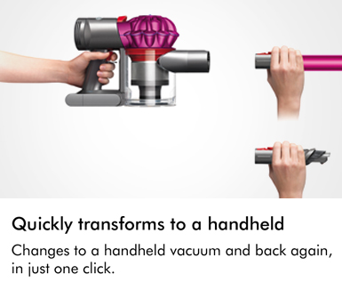 Dyson V7 Motorhead Quickly Transforms to be a Handheld